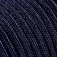 thumb-Strijkijzersnoer Donkerblauw - rond, effen stof-2