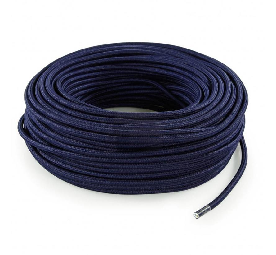 Fabric Cord Dark Blue - round, solid