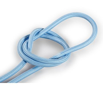 Kynda Light Fabric Cord Light Blue - round, solid