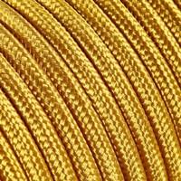 thumb-Strijkijzersnoer Goud - rond, effen stof-2