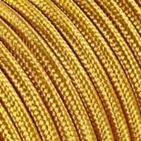 Fabric Cord Gold - round, solid