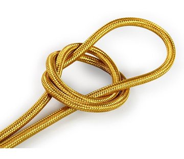 Kynda Light Fabric Cord Gold - round, solid