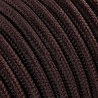 Strijkijzersnoer Bruin - rond, effen stof