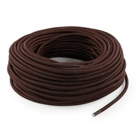 Fabric Cord Brown - round, solid