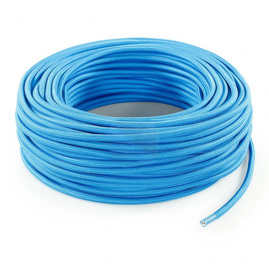 Fabric Cord Bright Blue - round, solid-3