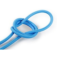 Fabric Cord Bright Blue - round, solid
