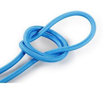 Kynda Light Fabric Cord Bright Blue - round, solid