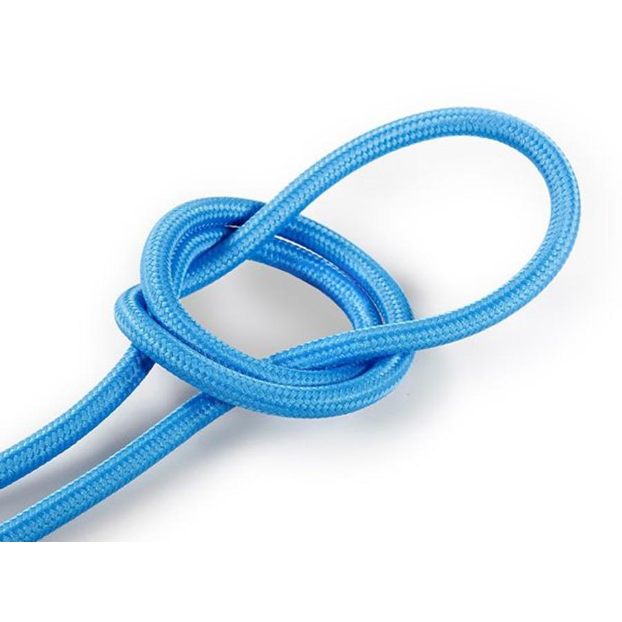 Fabric Cord Bright Blue - round, solid-1