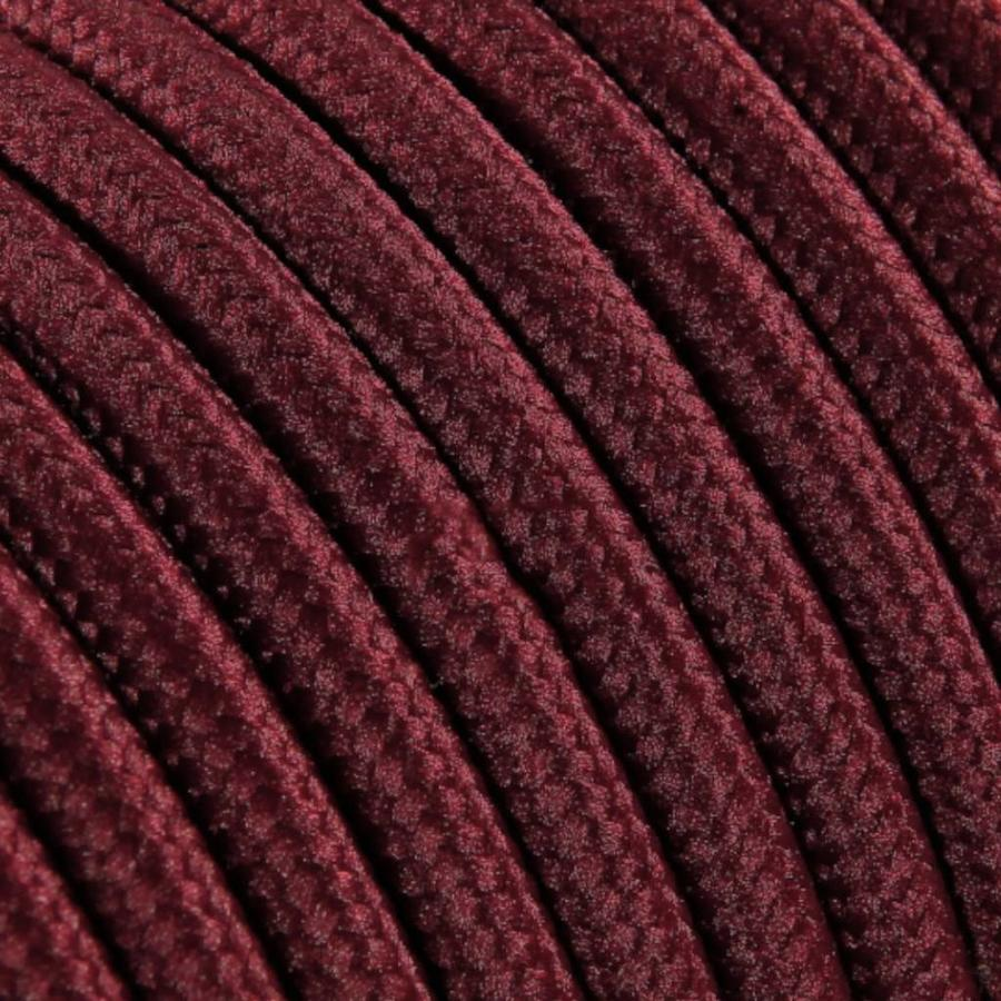 Fabric Cord Burgundy - round, solid-2