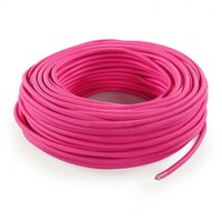 thumb-Fabric Cord Pink - round, solid-3