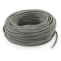 Fabric Cord Grey - round, solid