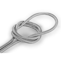 thumb-Strijkijzersnoer Zilver - rond, effen stof-1