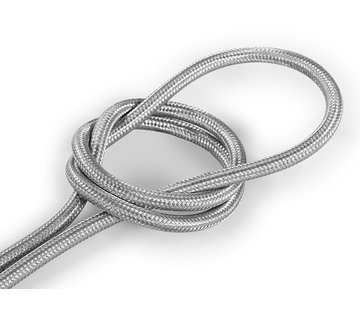 Kynda Light Fabric Cord Silver - round, solid