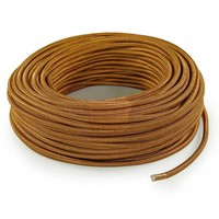 Fabric Cord Whiskey - round, solid