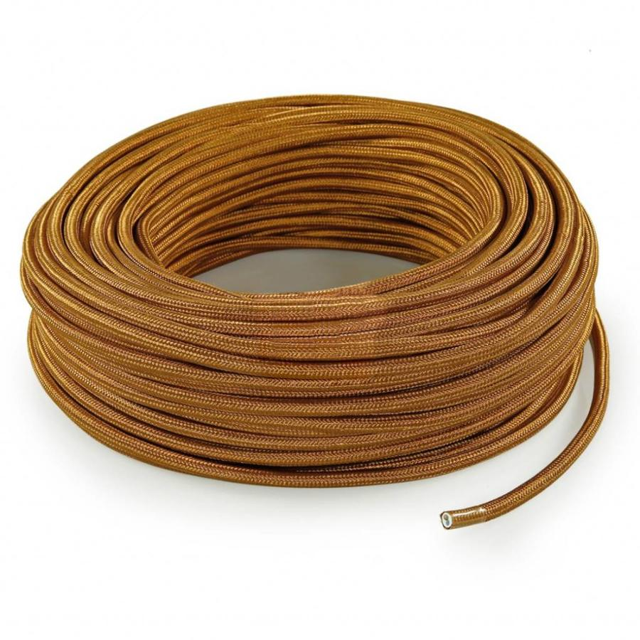 Fabric Cord Whiskey - round, solid-3