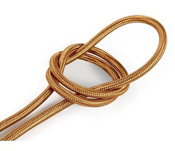 Kynda Light Fabric Cord Whiskey - round, solid
