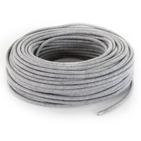 thumb-Fabric Cord Grey - round, linen-3