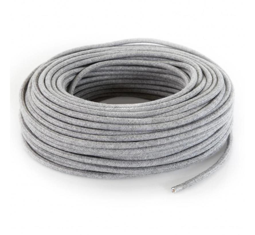 Fabric Cord Grey - round, linen