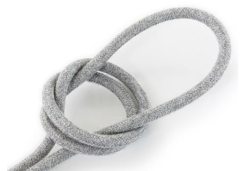 Fabric Cord Grey - round, linen