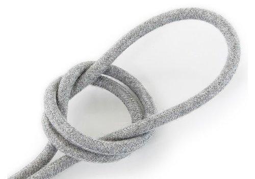 Strijkijzersnoer Grijs - rond, linnen