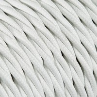 Fabric Cord White - twisted, solid
