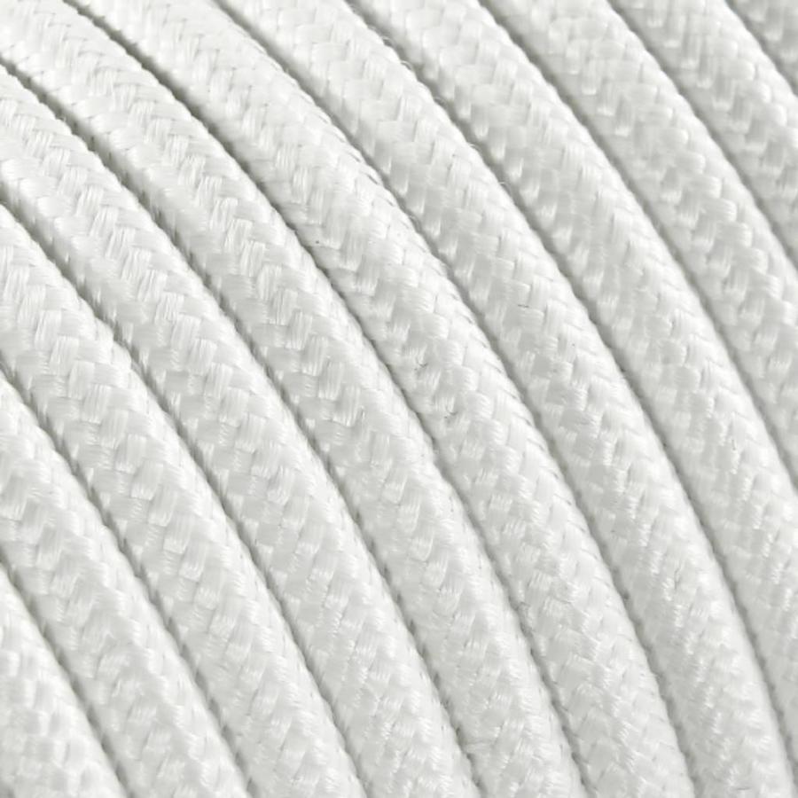 Strijkijzersnoer Wit - rond, effen stof-2