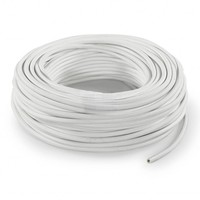 Fabric Cord White - round, solid