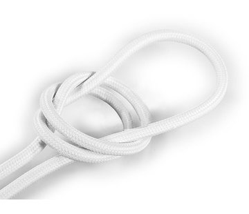Kynda Light Fabric Cord White - round, solid