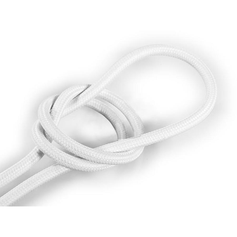 Strijkijzersnoer Wit - rond, effen stof-1