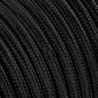 thumb-Fabric Cord Black - round, solid-2