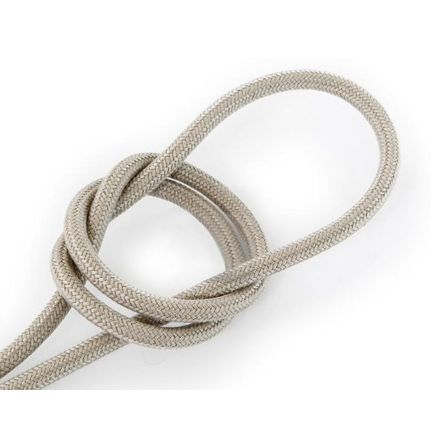 Fabric Cord Sand - round, linen