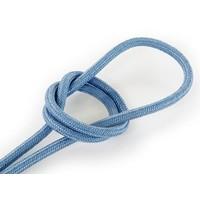 Fabric Cord Greyish Blue - round, linen
