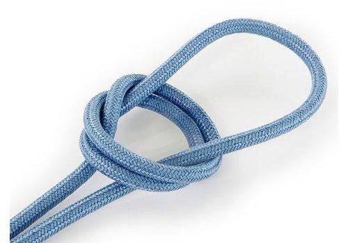 Strijkijzersnoer Grijsblauw - rond, linnen