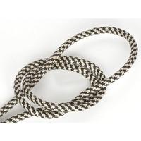 thumb-Strijkijzersnoer Zwart & Zand - rond, linnen-1