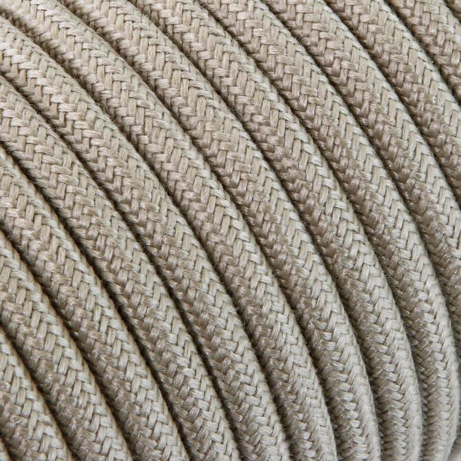 Strijkijzersnoer Zand - rond, linnen