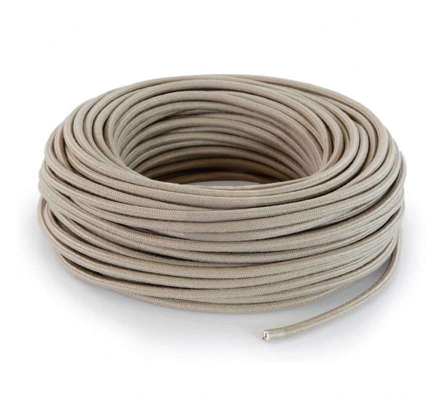 Fabric Cord Sand - round, linen