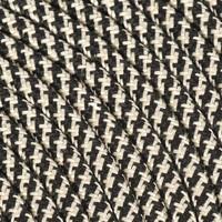 Fabric Cord Black & Sand - round, linen