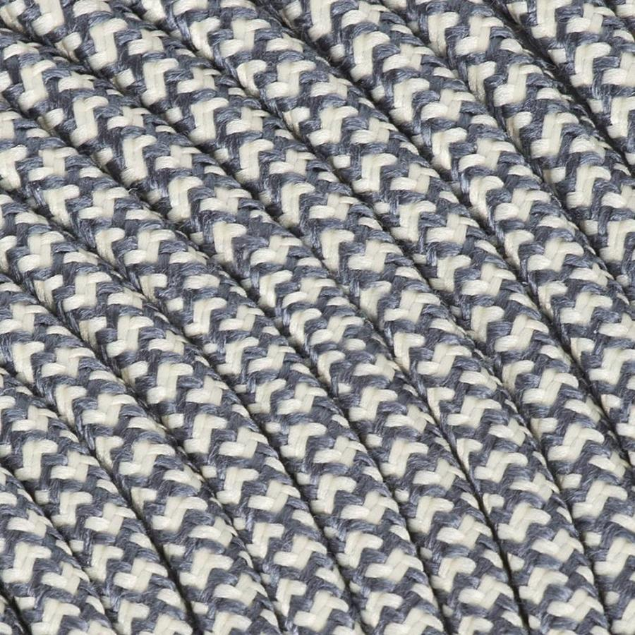 Strijkijzersnoer Creme & Grijs - rond, linnen