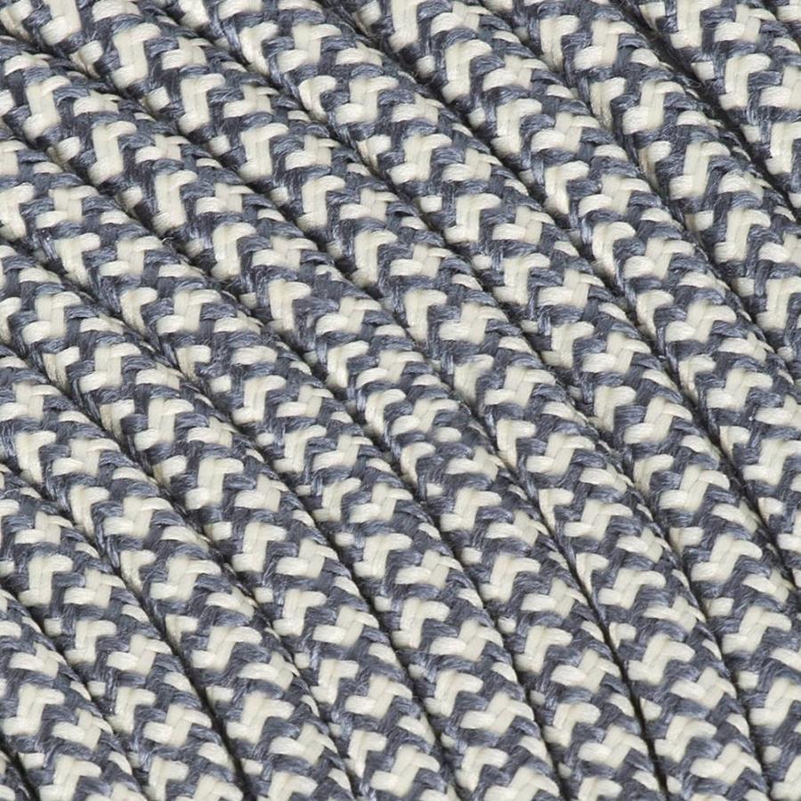 Fabric Cord Cream & Grey - round, linen