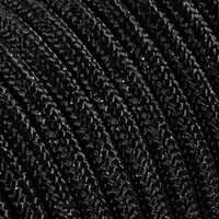 thumb-Fabric Cord Black (glitter) - round, solid-2