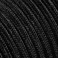 thumb-Strijkijzersnoer Zwart (glitter) - rond, effen stof-2