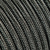 Fabric Cord Grey (glitter) - round, solid