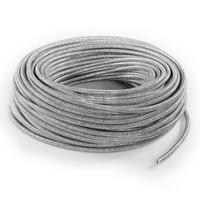 Fabric Cord Silver (glitter) - round, solid