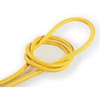 thumb-Strijkijzersnoer Geel - rond, effen stof-1