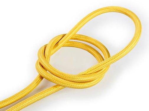 Kynda Light Fabric Cord Yellow - round, solid