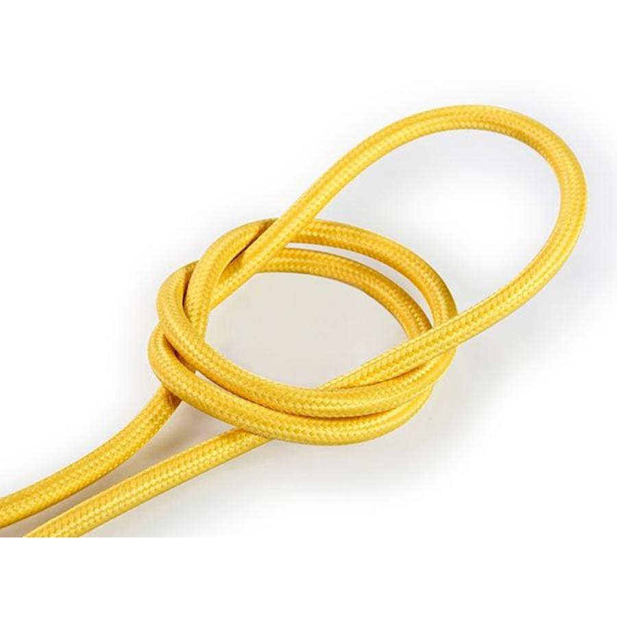Strijkijzersnoer Geel - rond, effen stof-1
