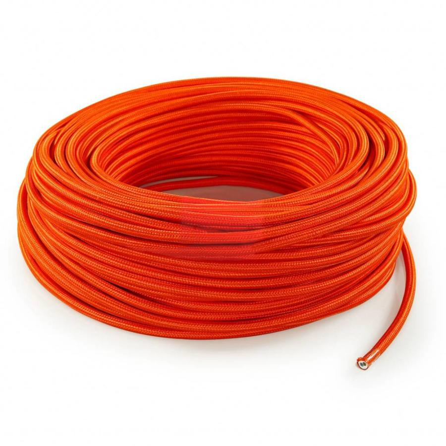 Fabric Cord Orange - round, solid