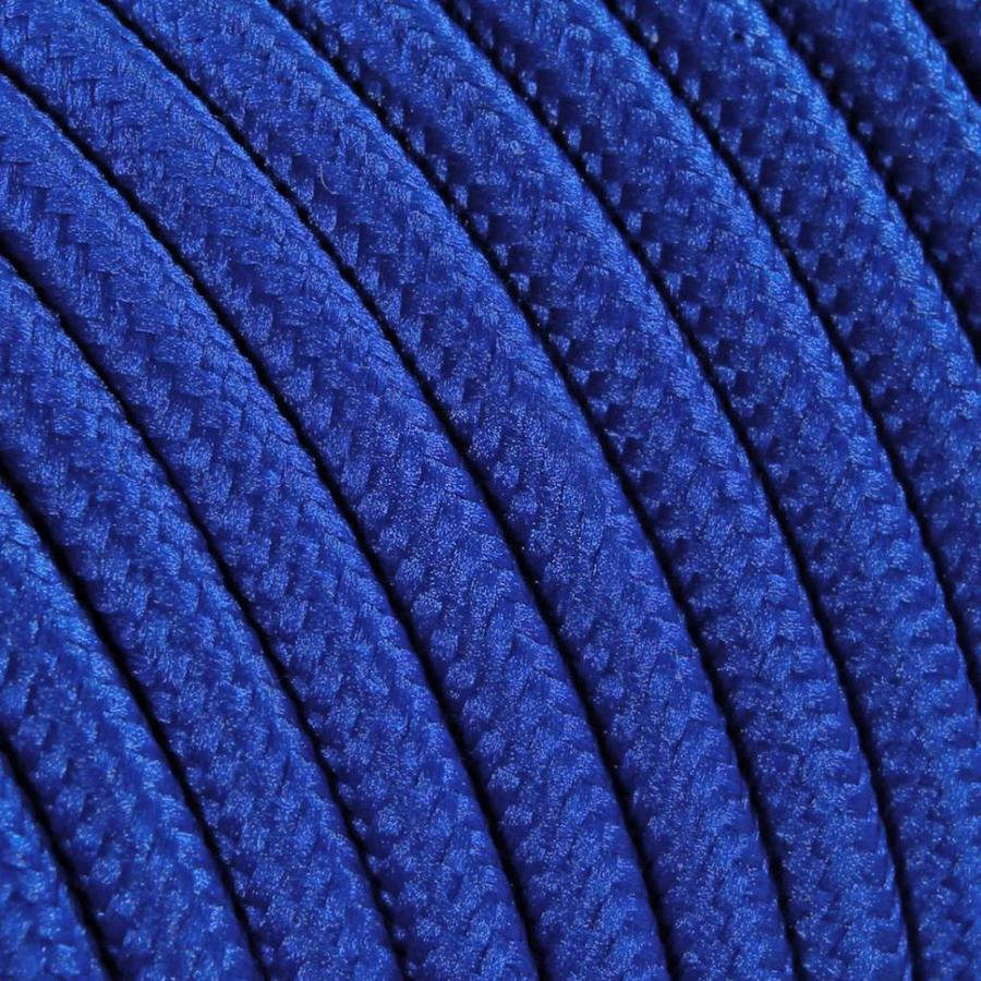 Fabric Cord Blue - round, solid