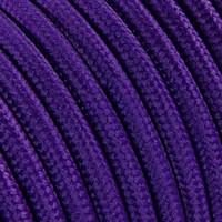 Strijkijzersnoer Paars - rond, effen stof