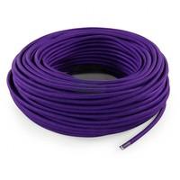 Fabric Cord Purple - round, solid